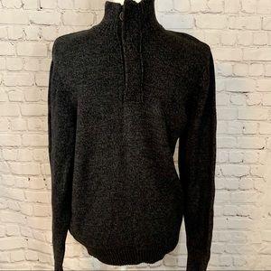 Urban Pipeline Gray Knit Quarter Zip Sweater